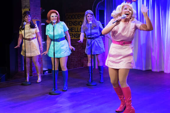 """Rachael Logue, from left, Chelsea Ryan McCurdy, Christina Stroup and Holland Vavra star in Stages Repertory Theatre's production of """"The Marvelous Wonderettes: Dream On."""""""