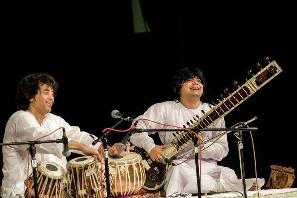 Tabla player Zakir Hussain and sitar playerNiladri Kumar