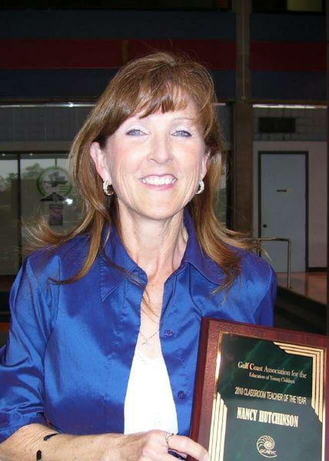 """The Gulf Coast Association for the Education of Young Children recently named Nancy Hutchinson of Friendswood """"Teacher of the Year"""" for her work at the San Jacinto College South Children's Center."""