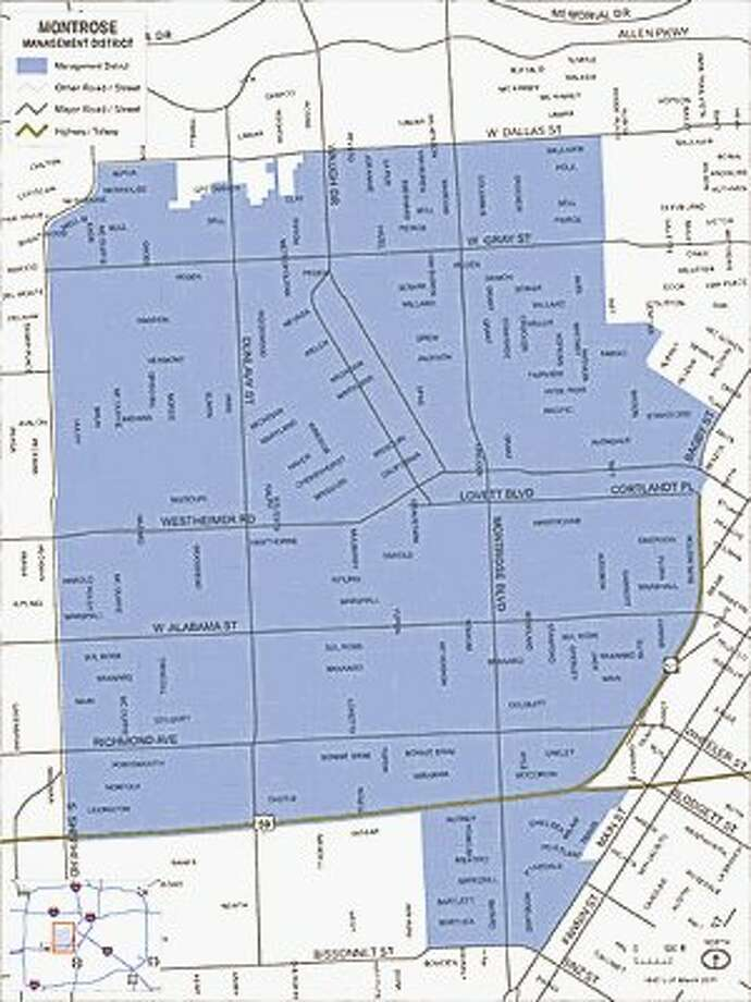 The area represented in the controversial Montrose Management District. / @WireImgId=2548678