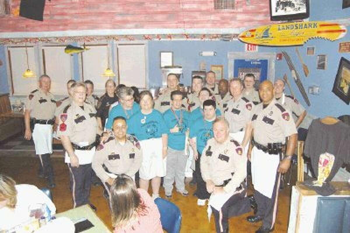 Constable's and sheriff's deputies teamed up with the employees at Joe's Crab Shack in Humble to raise money for Special Olympics of Texas last April and several times before and since.