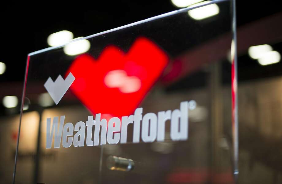 Weatherford International signage is displayed at the DUG Eagle Ford Conference & Exhibition in San Antonio, Texas, U.S., on Monday, Oct. 15, 2012.  NEXT: See recent earnings reports from area energy companies. Photo: Eddie Seal, Bloomberg