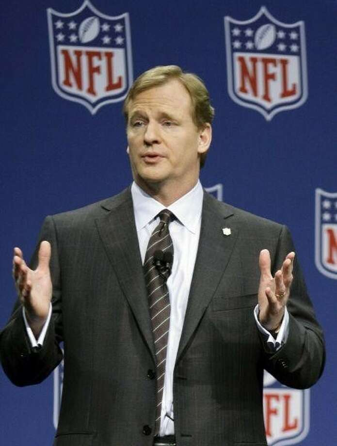 """NFL commissioner Roger Goodell announced a partnership with the National PTA on youth health and fitness. The """"Back to Sports"""" initiative launches nationwide this fall. / AP"""