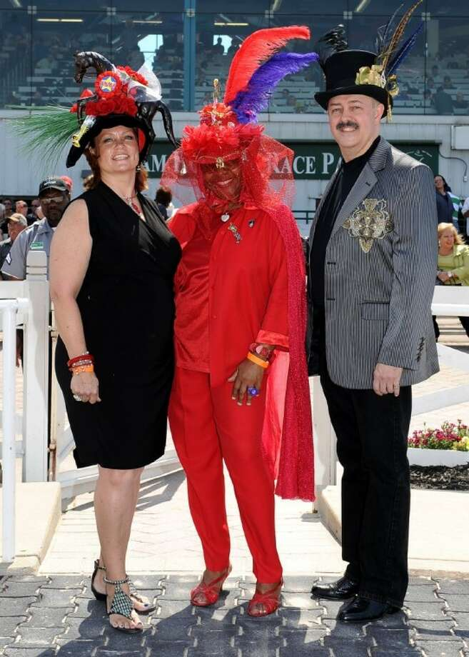 Sam Houston Race Park has a variety of events planned for Derby Day on May 5. Pictured here are participants in a previous Hat Contest on Derby Day at the park.