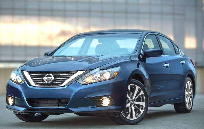 9. Nissan Altima Model year most stolen: 2015 Total thefts in 2016: 1,119