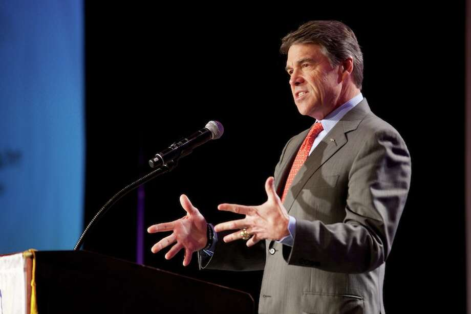 Gov. Rick Perry emphasized his commitment to finding long-term solutions to Texas' growing infrastructure needs, specifically strengthening the state's transportation infrastructure to meet the demands of our rapidly growing economy and population. The governor delivered the keynote address at the Texas Lyceum Association's 47th Public Conference. Photo: Governor's Press Offic