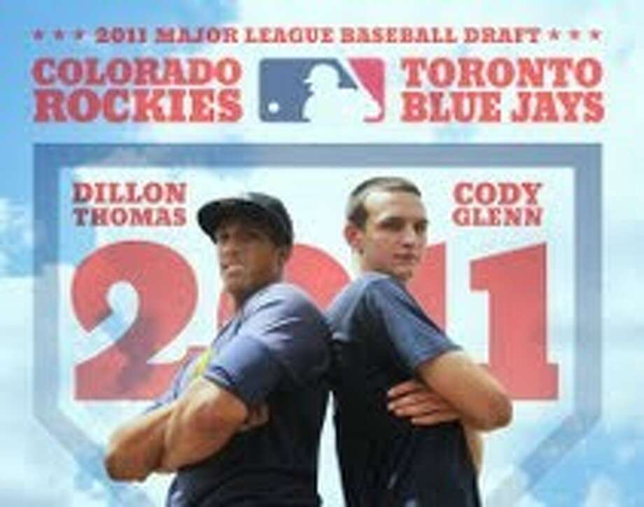 Westbury Christian graduates Dillon Thomas, left, and Cody Glenn were both first team TAPPS District 4-4A selections with the recent annoucement of the all-district baseball teams. Both were also recently selected in the Major League Baseball draft with Dillon taken by the Colorado Rockies and Cody Glenn selected by the Toronto Blue Jays.