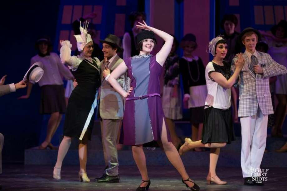 "HITS Theatre students, from left, Rachel Wile, Artie Moreno, Hattie Marks, Alejandra Mangini and Sean Holshouser, perform in ""Thoroughly Modern Millie."" Photo: Kevin Long"