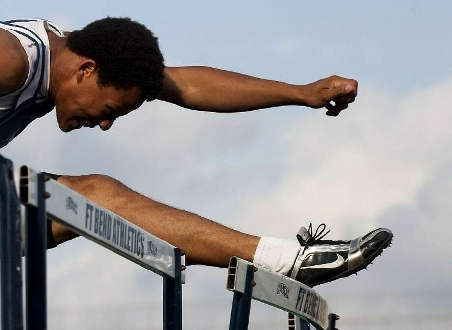 Clements' DeMarcus Cobb is among the Fort Bend ISD athletes invited to the Texas Relays in Austin. Cobb qualified in the 110-meter hurdles. Photo: HCN File Photo