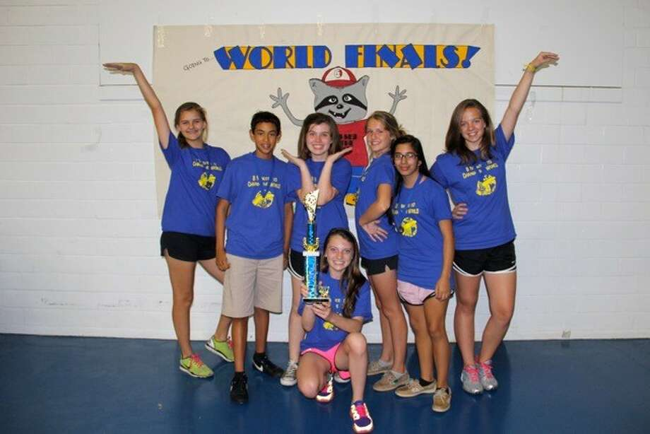 The seventh-grade team of Katharine Juden, Julian Castro, Emma Shea, Jessica Simon, Abbey Rank, Angelica Carrizal and Lauren Childers received first place in their division. This team will advance to the World Competition in Iowa during the weekend of May 26. (Photo submitted by Presbyterian School Houston)