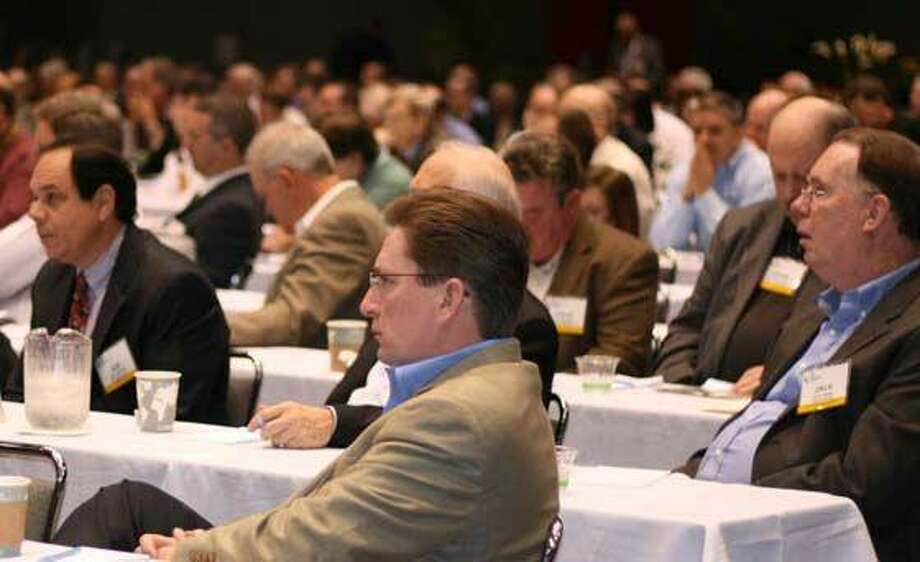 Some of the crowd at the natural gas conference.