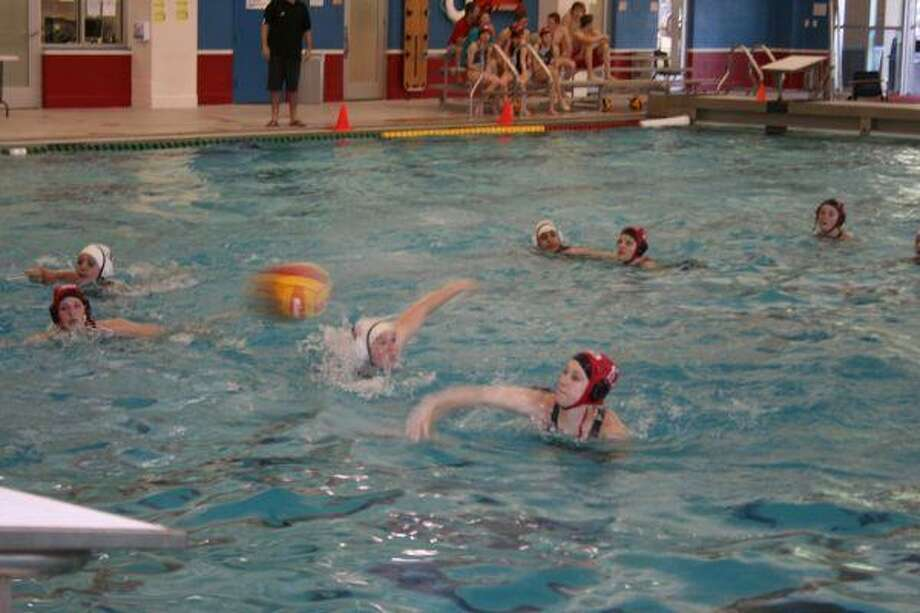 Mikayla Felchack and the Tomball girls water polo team defeated Cy-Springs 19-11 on March 30 in the first game of the THS 2010 Easter Classic.
