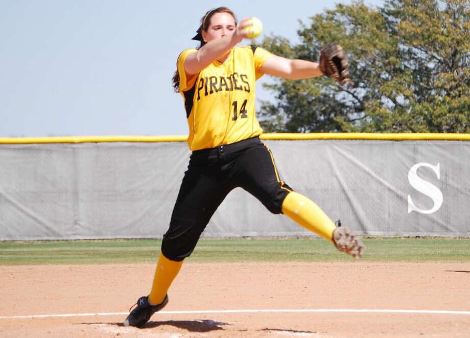 Kingwood alum Kelsey Kingston, a pitcher for Southwestern University, was named softball pitcher of the week for the Southwestern Collegiate Athletic Conference last week. Photo: Submitted Photo