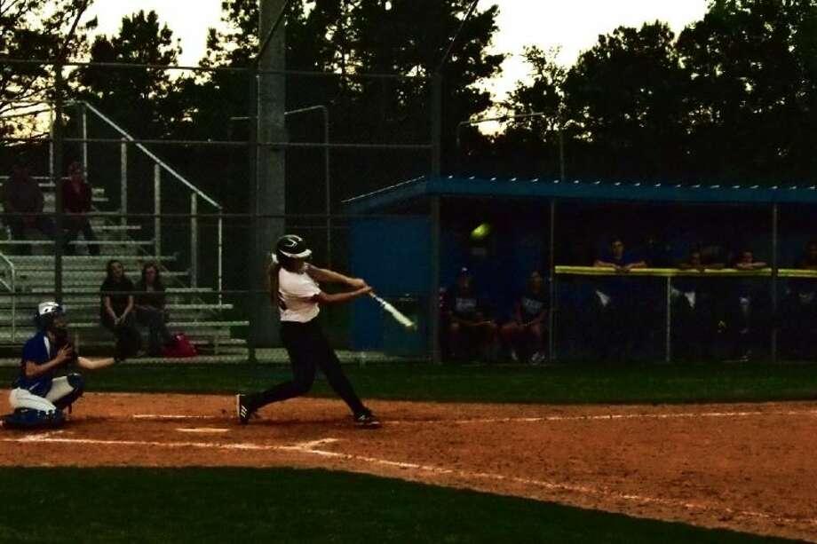 Kurstin Martin hit a home run in the seventh inning.