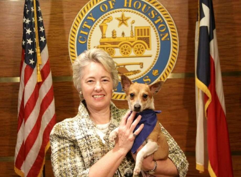 Mayor Parker and Mandy, the Mayor's Dog of the Week