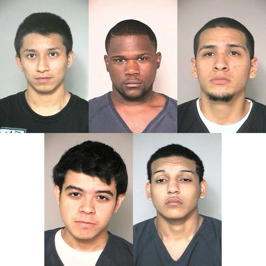 Alex Bello (top left) is in custody.Johnny Rodgers (top middle) was arrested on Monday. Ricardo Flores (top right) was arrested Wednesday. Jonathan Chavez (bottom left) is wanted for Burglary of a Habitation. Bryan Rubio (bottom right) is wanted for Burglary of a Habitation.