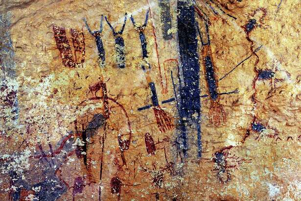 Rock art from the Galloway White Shaman Preserve of the Lower Pecos Canyonlands, an internationally known archaeological site. .