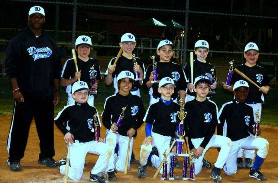 The Dynasty White 9 Elite won the Premier Slamfest Tournament at Baseball USA on March 7. On the back row, from left, are head coach Jason Harvey, Nick Doxey, Parker Roberts, Samuel Martin, Clay Sowell and Cooper Dolmage. On the front row, from left, are Barrett Neal, Caleb Cannon, Matthew Eichelsdorfer, Patrick Hine and Payton Harden.