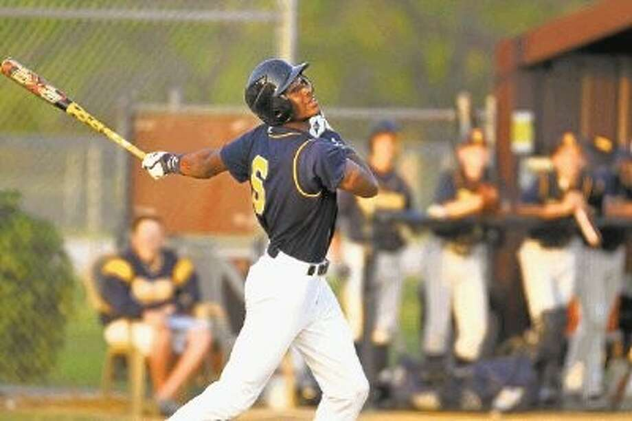 PHOTO BY KJWESPHOTOS.COM: Cy Ranch High senior outfielder Ashford Fulmer scored the winning run in the Northwest team's 9-7 victory over Northeast in the HABCA All-Star Game on Tuesday night at Rice University's Reckling Park. / @WireImgId=2215458