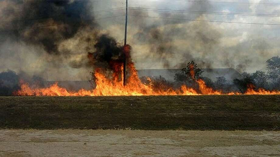 ABC 13 iWitness photo of the wildfire in Katy.