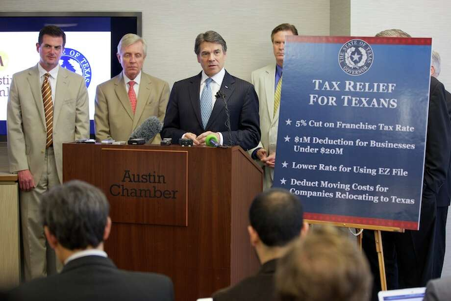 Gov. Rick Perry announced a four-point plan to provide nearly $1.6 billion in tax relief to all Texas businesses currently subject to the state's franchise tax. The governor was joined by lawmakers, the Texas Association of Business (TAB), National Federation of Independent Business (NFIB) and Texas Conservative Coalition Research Institute for the announcement.