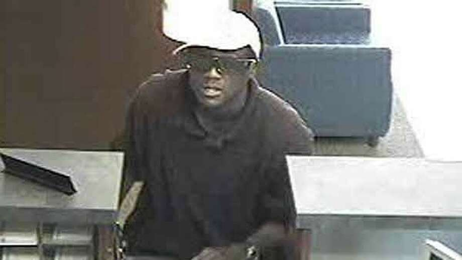 This is the image of the suspect in one of four bank robberies Saturday in the Houston area, this one at a Chase branch in the Galleria-Memorial area. The FBI does not believe there is a connection in the four incidents, which took place within hours of each other. Photo: FBI