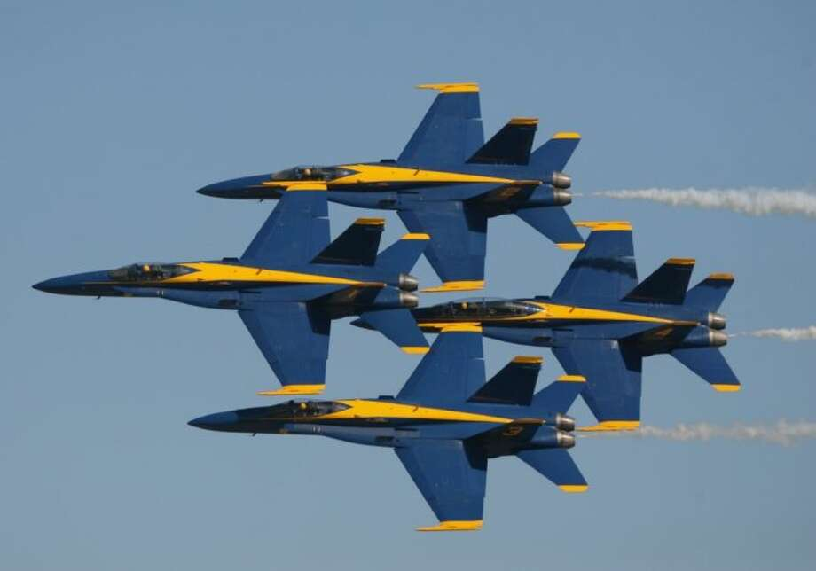 The Blue Angels performed at the Wings Over Houston Airshow last fall. Their shows and the Thunderbirds, scheduled for this year's Wings Over Houston have been cancelled. Photo: Kar B Hlava
