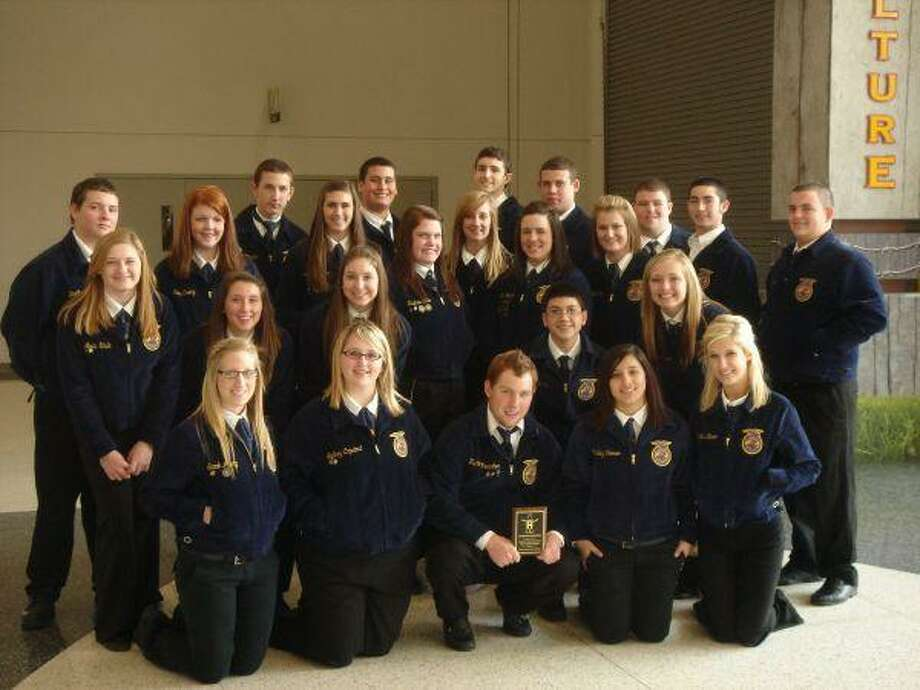 Pasadena Memorial High School's FFA chapter won second place in the Agriculture Education Tour Guide Program at the HSL&R.