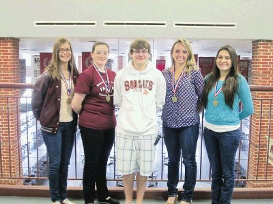 Pictured are Michael Miller, Bethany Mandrell, Blake Hale, Kensley Phillips and Laila Espinoza.