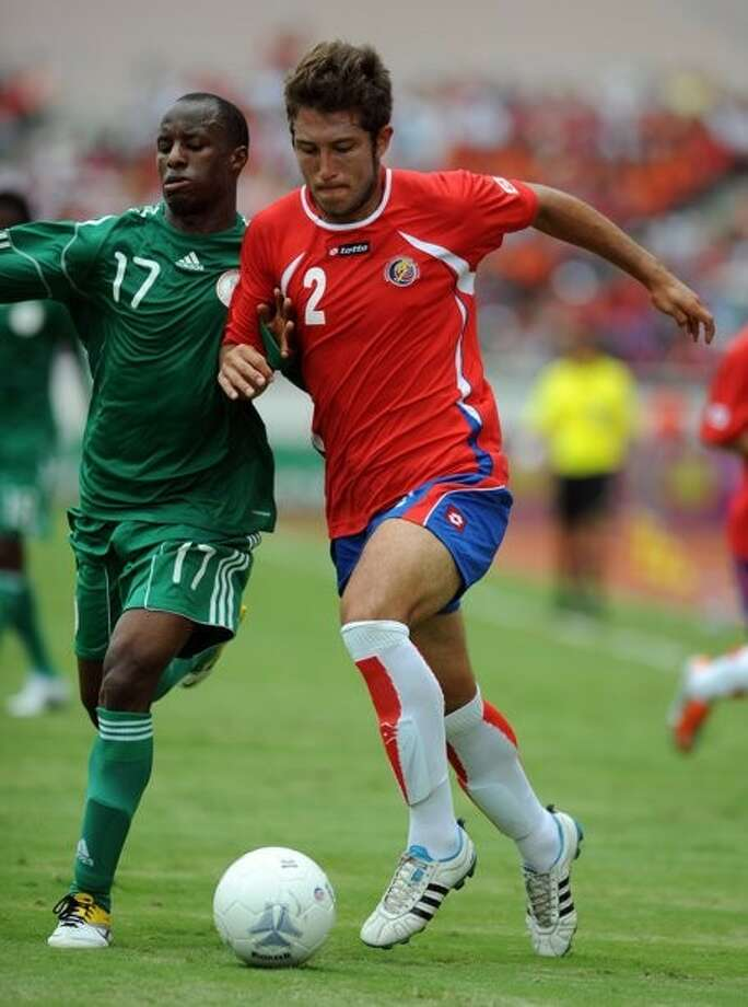 Francisco Calvo, freshman defender for the San Jacinto College men's soccer team (pictured right) will join the national Costa Rica professional soccer team in the 2011 CONCACAF Gold Cup.