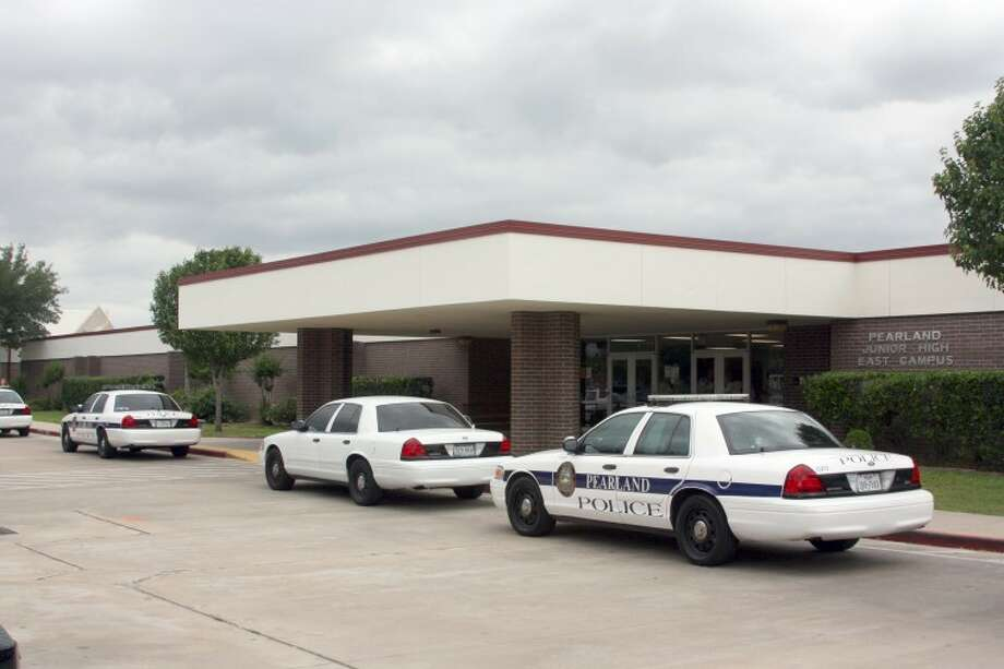 Pearland Police placed Pearland Junior High East on lockdown after rumors of a gun on campus surfaced. Pearland Journal reader Beth Vann provided this picture from the school.