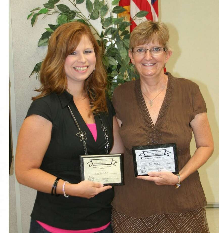 Lisa Boettcher (left) and Jean Adams were selected as the 2011 Teachers of the Year to represent Hempstead ISD in Region 4.