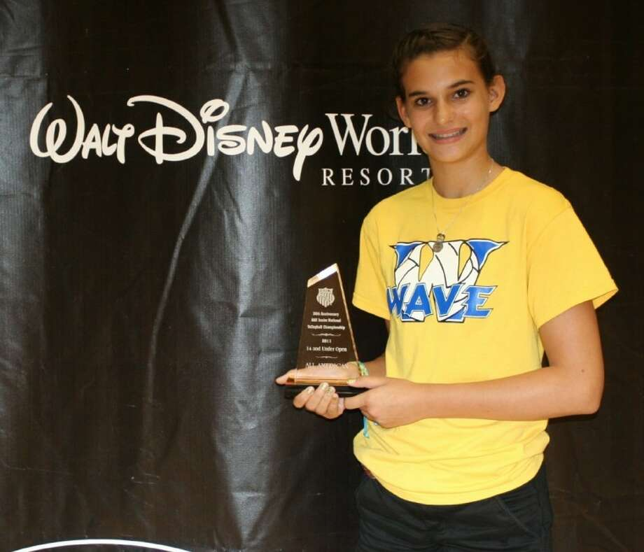 Magnolia's Morgan Miller earned All-American status in the 14U Open Division at the AAU Volleyball Championships in Orlando, Fla. Miller plays for the Woodlands Wave and will be a freshman at Magnolia High School this fall. Photo: Submitted Photo