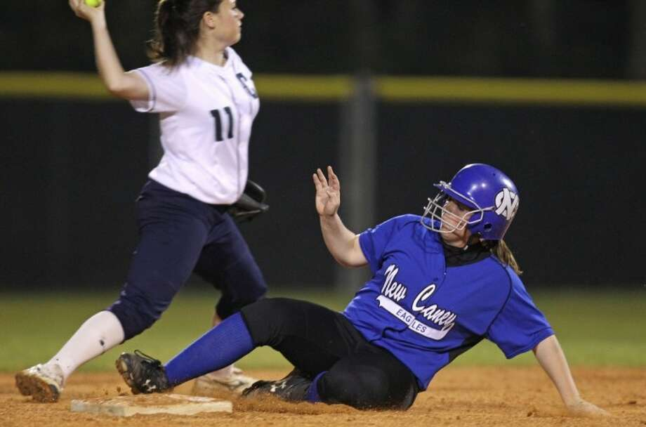 New Caney's Brittany Mussett was a first-team All-District selection as a sophomore catcher in 2011.