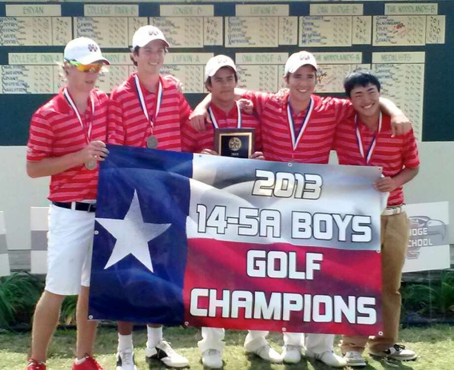 The Woodlands boys golf team captured the District 14-5A championship last week in Huntsville.