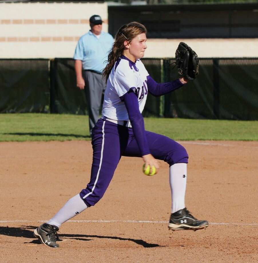Dayton pitcher Pressley Bell gets the win for her team against Crosby last week.