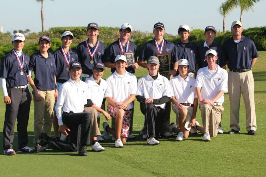 The Clear Lake boys' golf team recently captured the District 24-5A championship at Moody Gardens Golf Course. Team members are (top row, left to right) Cody Banach, Reed Giesinger, Jason Sobotik, Steven Strack, Matthew Ferguson, Elliott Freudenburg, Matthew Jouett, Michael Sinor and coach David Monsrud (bottom row) Gavyn Freeland, Marcus Freudenburg, Chris Orosco, Gerrit Van Zijll, Frank Shepard and Keaton Richmond Photo: SUBMITTED PHOTO