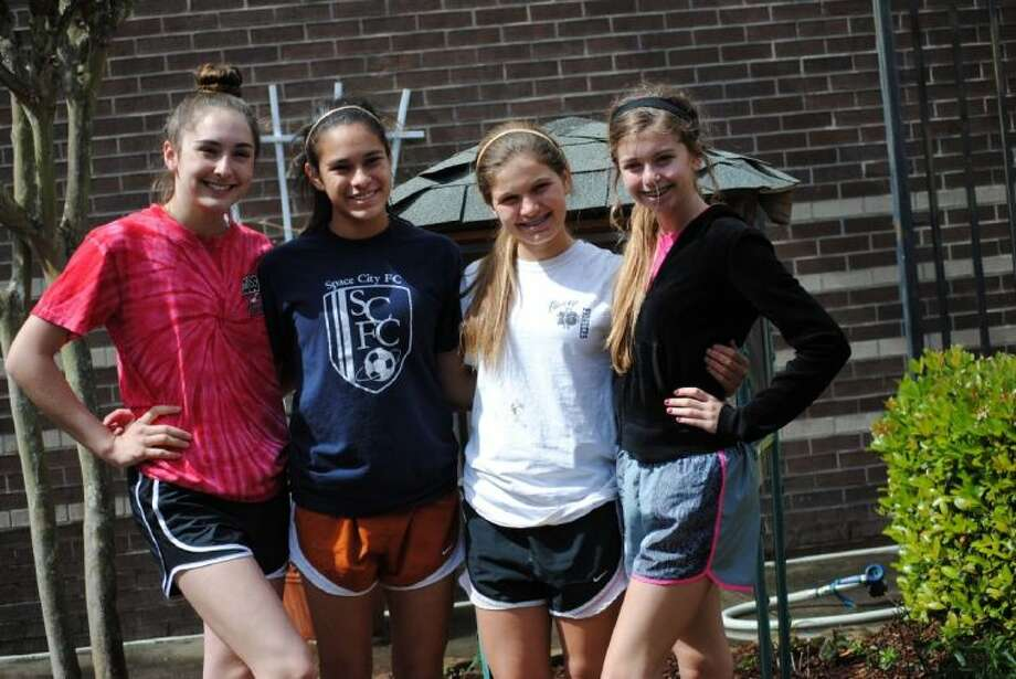 A group of four girl scouts got together recently to revitalize butterfly garden at Westwood Bales Photo: FISD