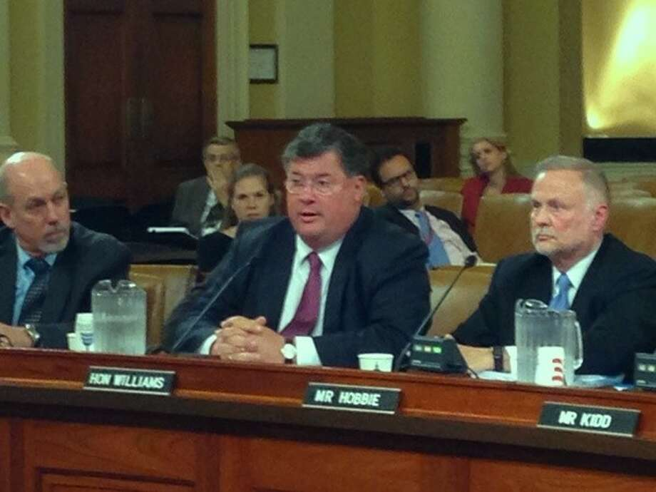 Senator Tommy Williams (R-The Woodlands) testifies before the U.S. House Ways & Means Human Resources Subcommittee about guidelines for the stalled Department of Labor's drug testing for unemployment program. Photo: Submitted Photo
