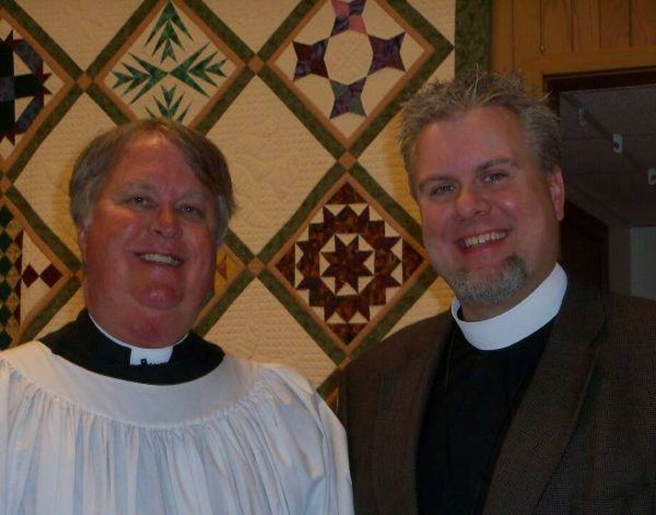 From left, Reverend Bill Hyde, rector of St. Thomas Episcopal Church, and Right Reverend C. Andrew Doyle.