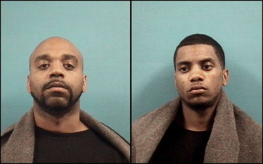 Richard Thomas III, 32, of Missouri City (left) and Fresno resident Kalon Wayne Cobb, 22, (right) were arrested by Pearland Police Sunday (April 14). Both suspects face felony charges of Theft of a Firearm, Unlawful Possession of a Firearm by a Convicted Felon and misdemeanor drug possession charges. Photo: Courtesy Pearland Police