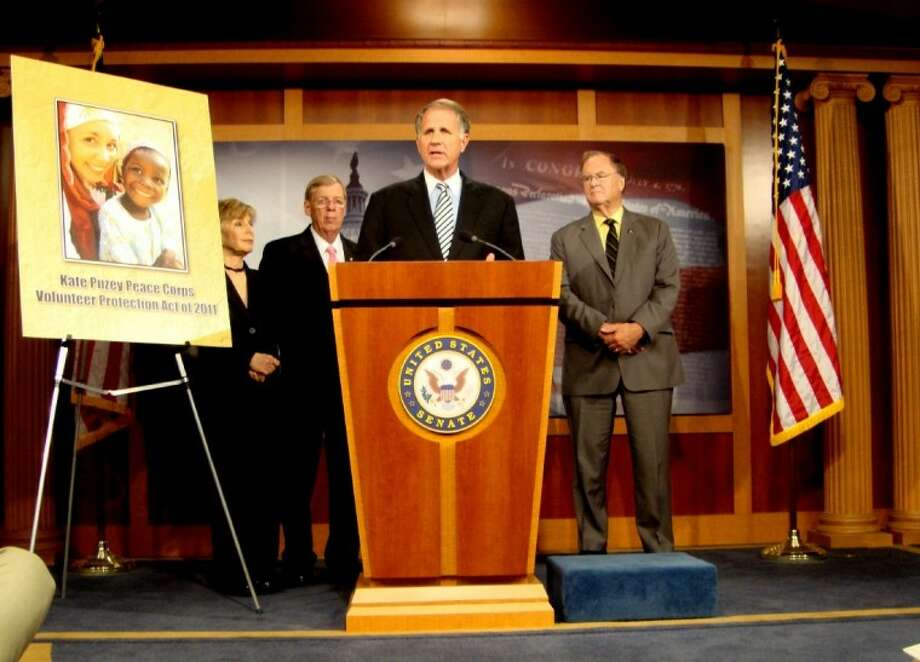 Congressman Ted Poe gives details of new legislation he helped introduce that will provide better security and protection measures for Peace Corps volunteers. Photo: Submitted Photo