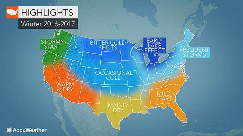 AccuWeather's predictions for winter 2016-17.