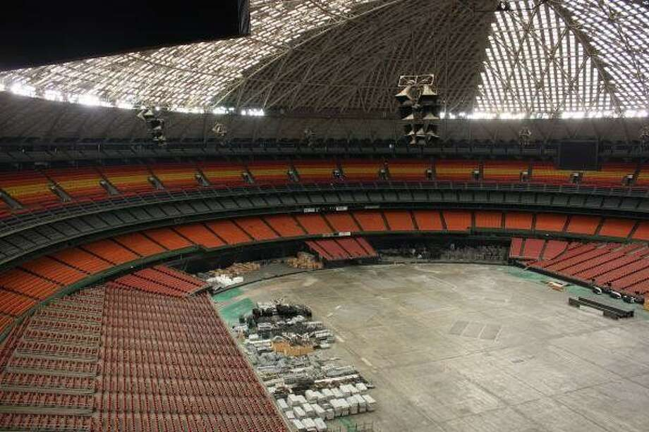 How the Astrodome looked on a media tour in 2010.