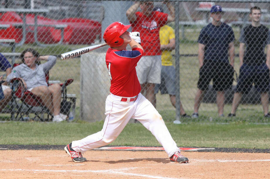 Dulles' Caden Williams drove in three runs and allowed two hits in seven innings to lead the Vikings to a 10-1 game three victory against Clear Creek in the Region III-5A bi-district playoffs. The Vikings face North Shore in the area round. Visit www.hcnpics.com for more photos.