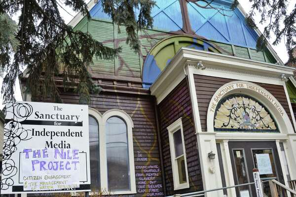 Exterior of the Sanctuary for Independent Media Saturday March 21, 2015 in Troy, NY.  (John Carl D'Annibale / Times Union)