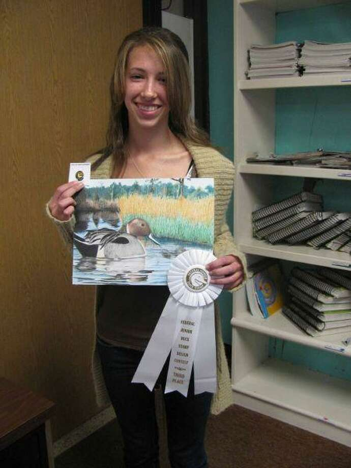Friendswood Junior High artist Brooke Bartholomew placed third in the 2010 Texas Duck Stamp Contest.