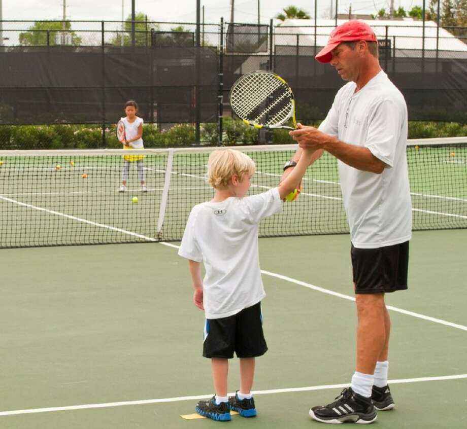 Westside still boasts a healthy tennis program, in addition to all its family activities, with lessons for even the youngest members.