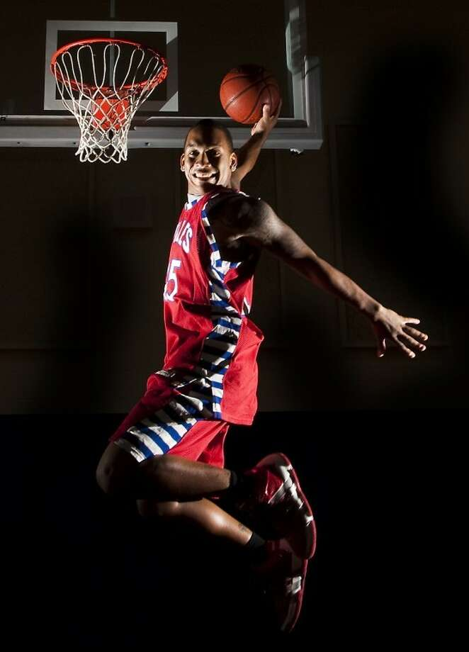 Arguably the best basketball player in Fort Bend ISD during the last 10 years, Harrison was a scoring machine. He averaged 31.1 points and 10.1 rebounds. The St. John's signee checks in at No. 3 on the Sun's list of Top Athletes for the 2010-11 school year. (Photo by Patric Schneider) Photo: By PATRIC SCHNEIDER