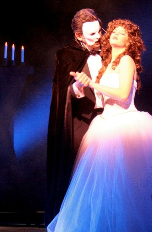 """Don't miss Drew Slatton as The Phantom and Haleigh Harris as Christine Daaé in Lone Star College-CyFair's """"The Phantom of the Opera"""" April 27- May 6. For tickets and information, call 281.290.5201 or go to LoneStar.edu/boxoffice. Photo: By Anabel Castellanos"""